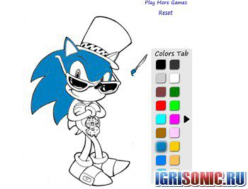 онлайн игры соник икс раскраски играть бесплатно